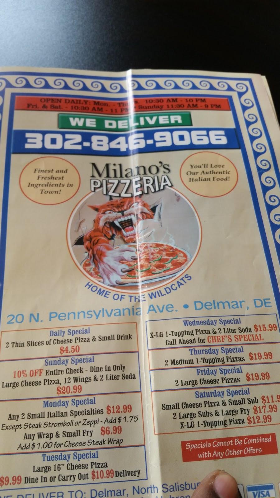 Milanos Pizzeria Onsite